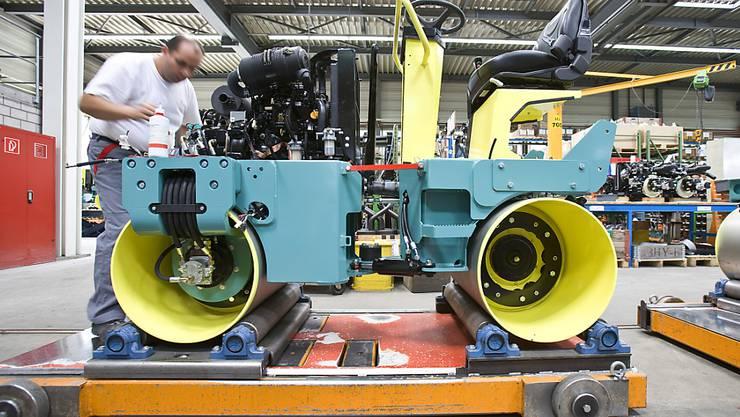 Fabrik der Ammann Group in Langenthal: Wegen anhaltendem Kostendruck wird ein Teil der Komponenten-Produktion ins Ausland verlagert.
