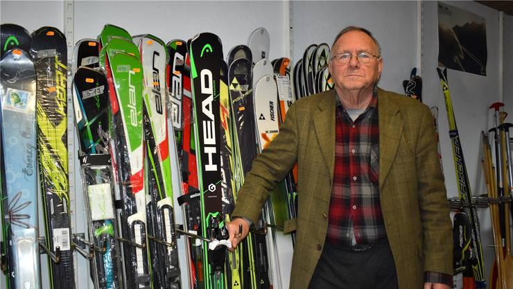 Hans Waldmeier ist vor allem mit dem Skimarkt in Mumpf zufrieden.