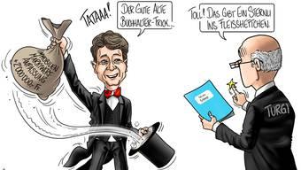 Karikaturen von Silvan Wegmann
