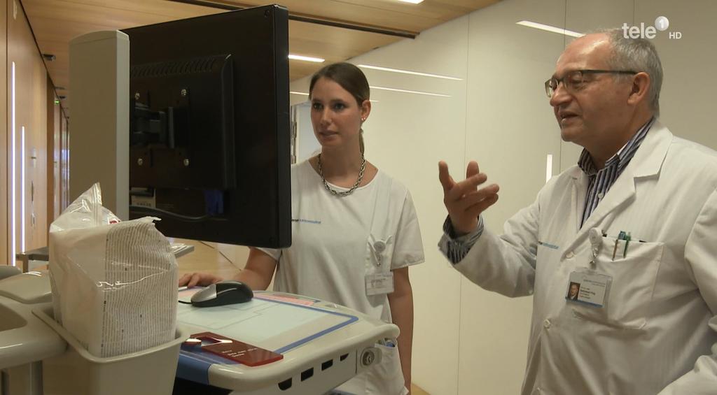 Mit dem System LUKis werden Patientendaten digital abgespeichert.