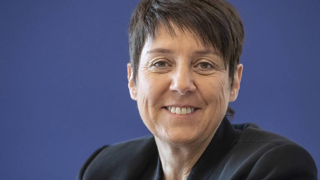 Frau Landmann Petra Steimen-Rickenbacher (FDP), Vorsteherin des Departements des Innern, will den Neubau der Stiftung Phönix in Einsiedeln unterstützen. (Archivaufnahme)