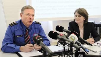 Die Polizei Baselland, hier Kommandant Mark Burkhard, wird entlastet. Das Verhalten von Sicherheitsdirektorin Kathrin Schweizer wurde gar nicht untersucht.