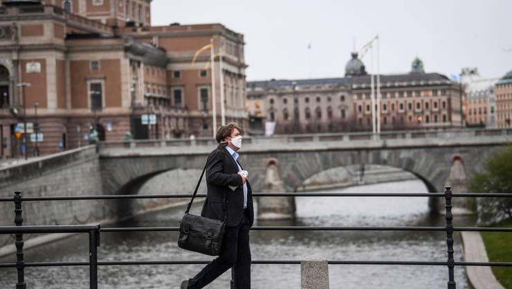 Schweden verzichtete anders als viele europäische Länder auf einen umfassenden Lockdown (Stockholm, 27. April).