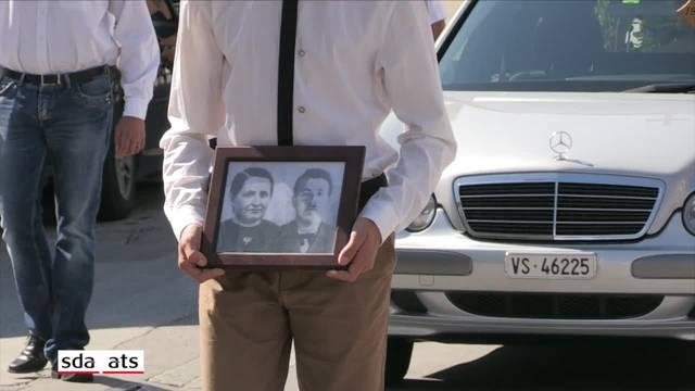 Letzte Ehre für das tote Ehepaar vom Transfleuron-Gletscher