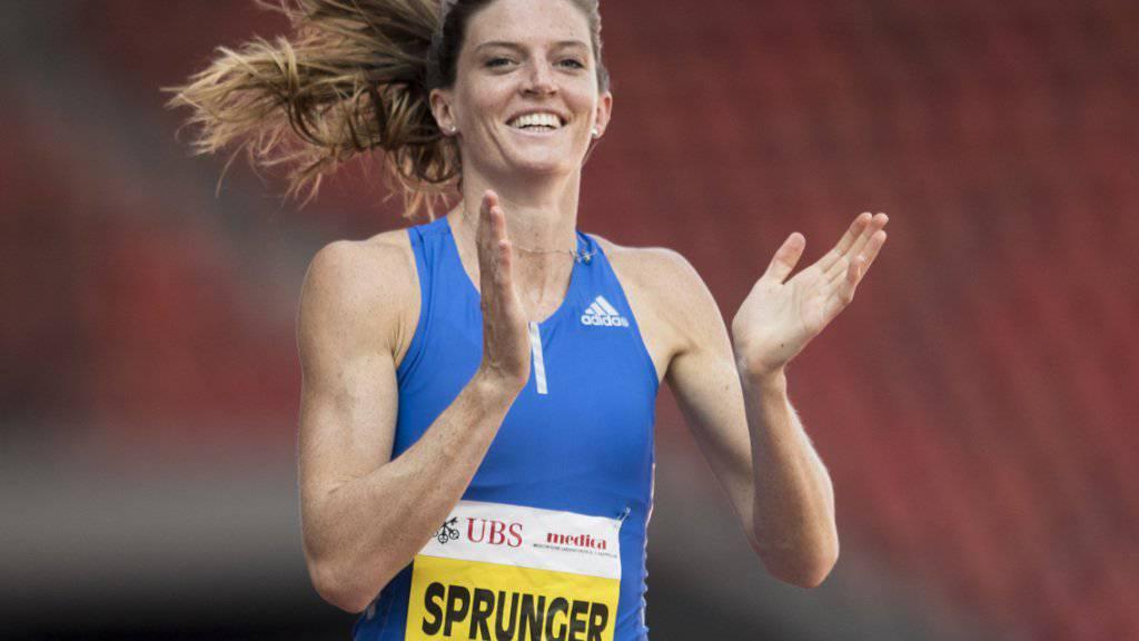 Lea Sprunger will sich auch in London über einen guten Wettkampf freuen.