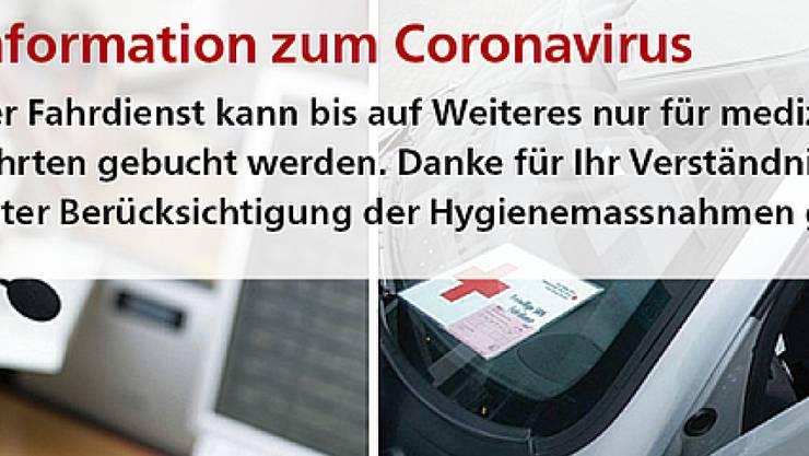 Der freiwillige Fahrdienst des Schweizerischen Roten Kreuzes kann aufgrund der Corona-Krise derzeit nur medizinisch notwendige Fahrten durchführen. Dringend gesucht werden Fahrerinnen und Fahrer unter 65 Jahren.