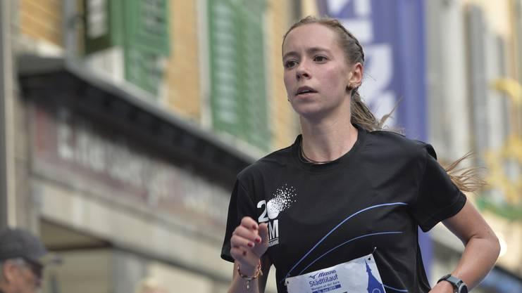 Emilie Julmy aus Marly setzte sich in der Kategorie «Frauen» durch, mit einem Sieg hat sie im Vorhinein nicht gerechnet.