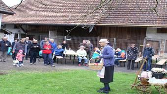 Das Hüener Anni stand an der Eiertütscheten im Mittelpunkt. hpw