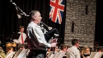 Stefan Köpfli, selbst ein ehemaliges Mitglied der Musikgesellschaft, hat seine Leidenschaft für den Dudelsack entdeckt. Patrick Züst