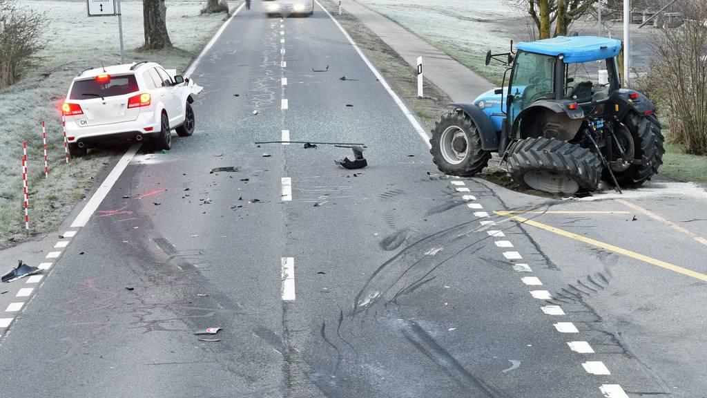 Strasse musste nach Kollision drei Stunden gesperrt werden
