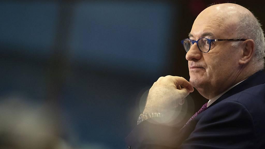 ARCHIV - EU-Handelskommissar Phil Hogan hat wegen Verstößen gegen Corona-Regeln seiner Heimat Irland seinen Rücktritt erklärt. Foto: Virginia Mayo/AP/dpa