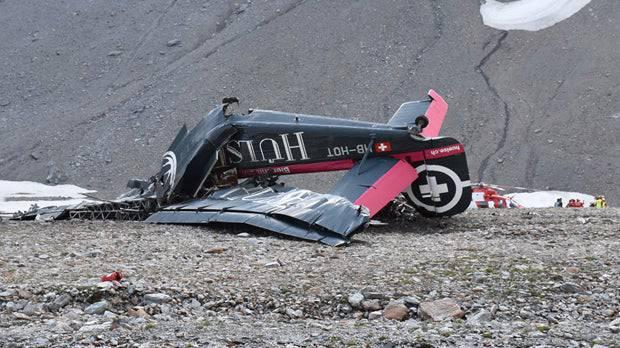 Das historische Flugzeug «Tante Ju» wurde beim Absturz komplett zerstört.
