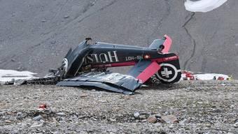 Die abgestürzte Maschine «Tante Ju».