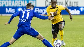 Jordan Lotomba (rechts), hier im Spiel gegen den FC Luzern im Zweikampf mit Pascal Schürpf