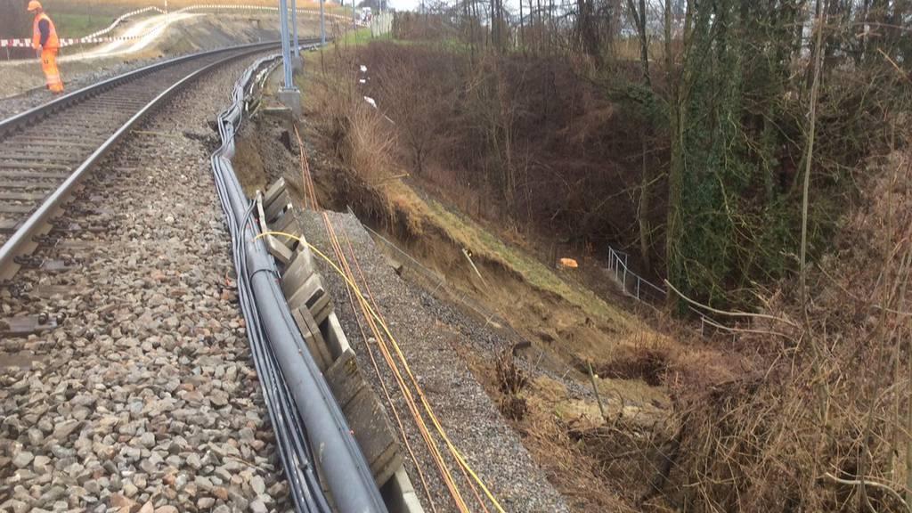 Zwischen Weinfelden und Kreuzlingen hat es einen Erdrutsch gegeben.