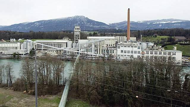 Blick auf die Borregaard Schweiz AG