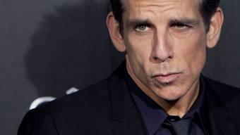 """Ben Stiller posiert mit seiner arroganten Schnute aus """"Zoolander"""". Am Dienstag stellte er den Film in Berlin vor, nachdem er ein Flüchtlingsheim besucht hatte."""
