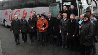 Mangelnden Einsatz kann man den elf Initiativgemeinden nicht vorwerfen, hier im März 2016 bei einer Bus-Tour durchs Baselbiet.