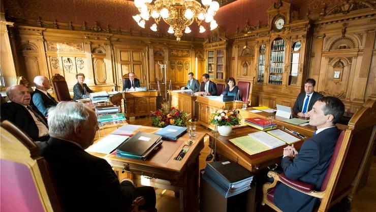 Im Bundesratszimmer im Bundeshaus West kommt es heute zum Showdown in der Europa-Frage.