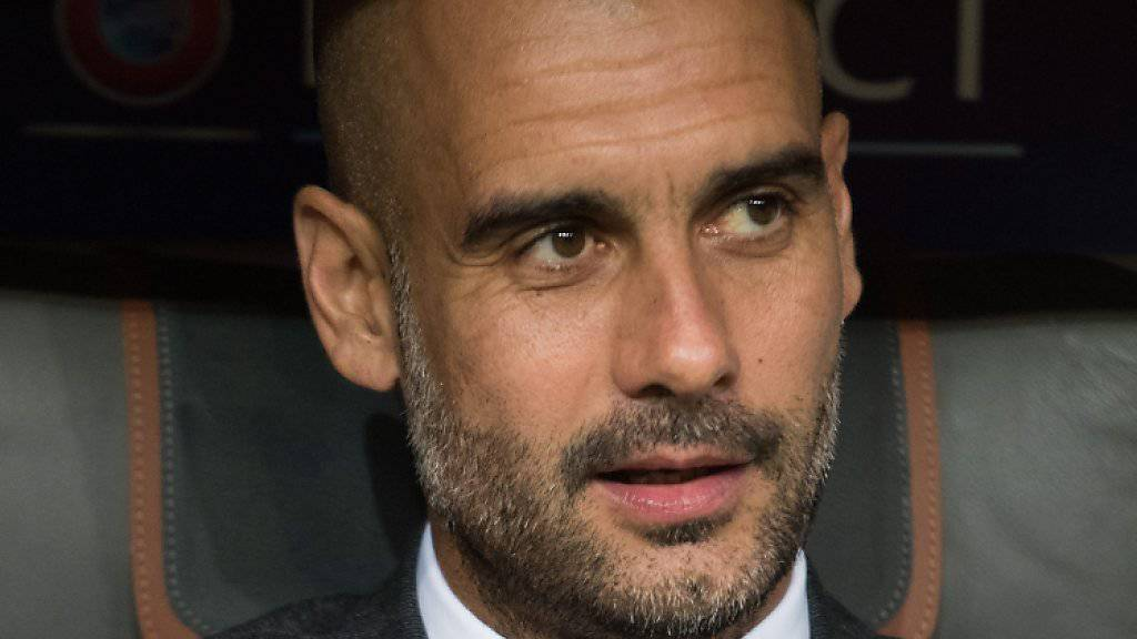 Bayern-Trainer Guardiola hat gut lachen: Sein Team hat noch keinen Punkt abgegeben