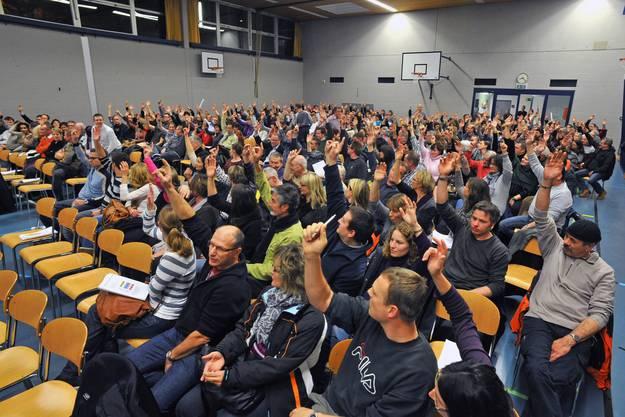 301 Stimmberechtigte kamen zur Gemeindeversammlung.