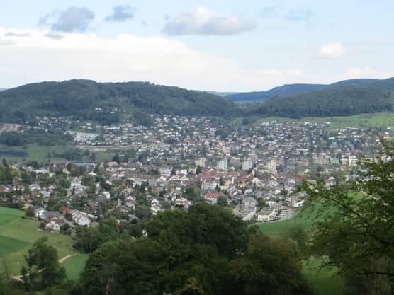 Hier einfach der Blick auf Frenkendorf und Füllinsdorf