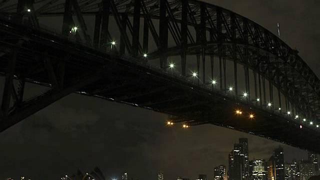 Dunkelheit im Hafen von Sydney