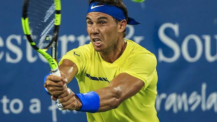 Rafael Nadal gerät gegen Nick Kyrgios in Bedrängnis