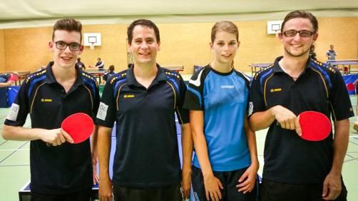Colin Zemp, Matthias Wohler, Severina Fischer, Jonas Rohner (v.l.)