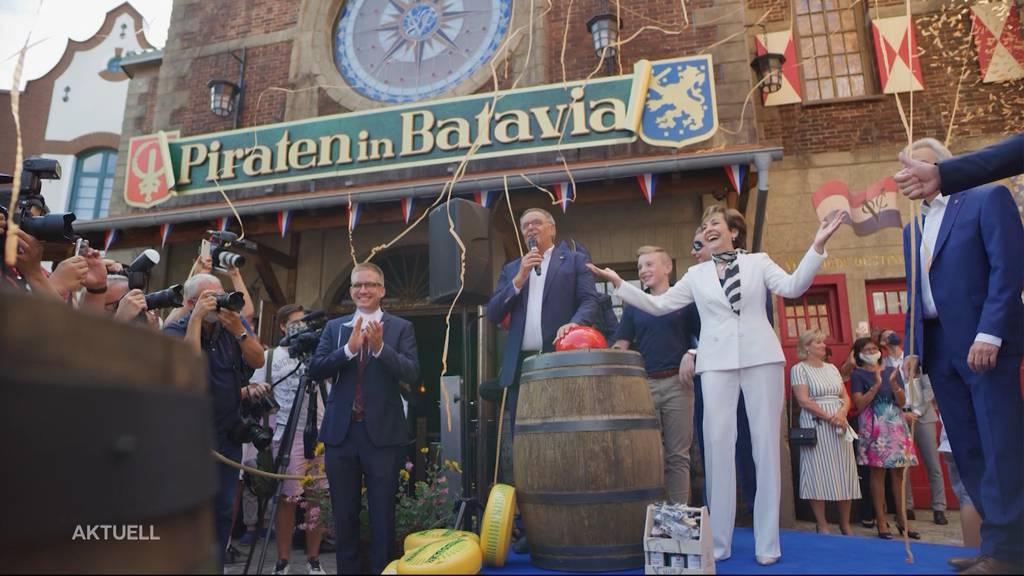 Emotionale Eröffnung der Bahn «Piraten in Batavia» im Europa-Park