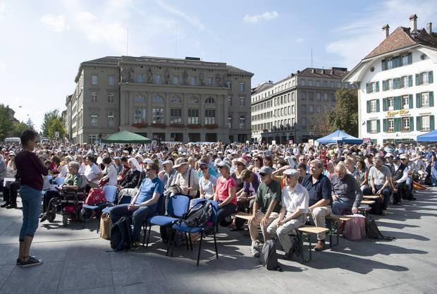 Der «Marsch fürs Läbe» gegen Abtreibungen wird regelmässig von christlich-konservativen Gruppen organisiert und in verschiedenen Städten durchgeführt.