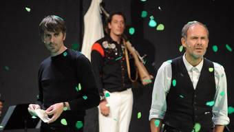 """Jens Harzer als Ich (v.l.) in """"Immer noch Sturm"""" von Peter Handke an den Salzburger Festspielen 2011. Jetzt ist der Schauspieler neuer Träger des renommierten Iffland-Rings. (Archivbild)"""