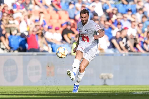 Er weiss wie es geht, hat aber noch nicht getroffen: Luzerns Francesco Margiotta bleibt torlos.