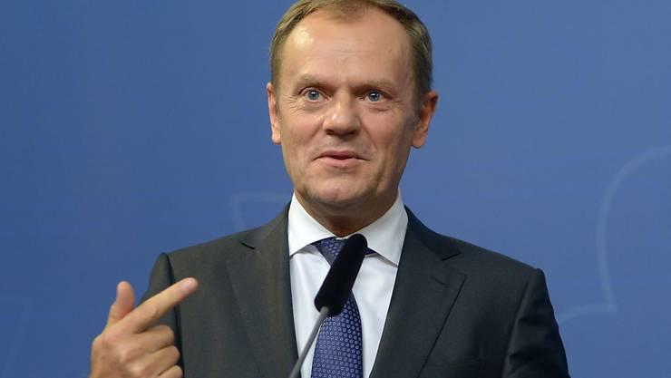 Fordert Führungsverantwortung von Deutschland in der Flüchtlingskrise: EU-Ratspräsident Tusk.