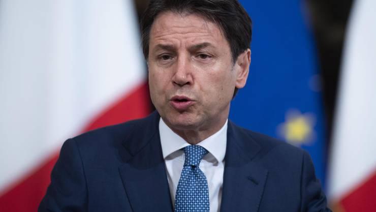 Der alte und neue Premier des Belpaese: der parteilose Giuseppe Conte. Bild: Maurizio Brambatti/Keystone