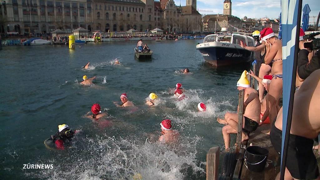 Samichlaus-Schwimmen in der Limmat feiert 20-jähriges Jubiläum