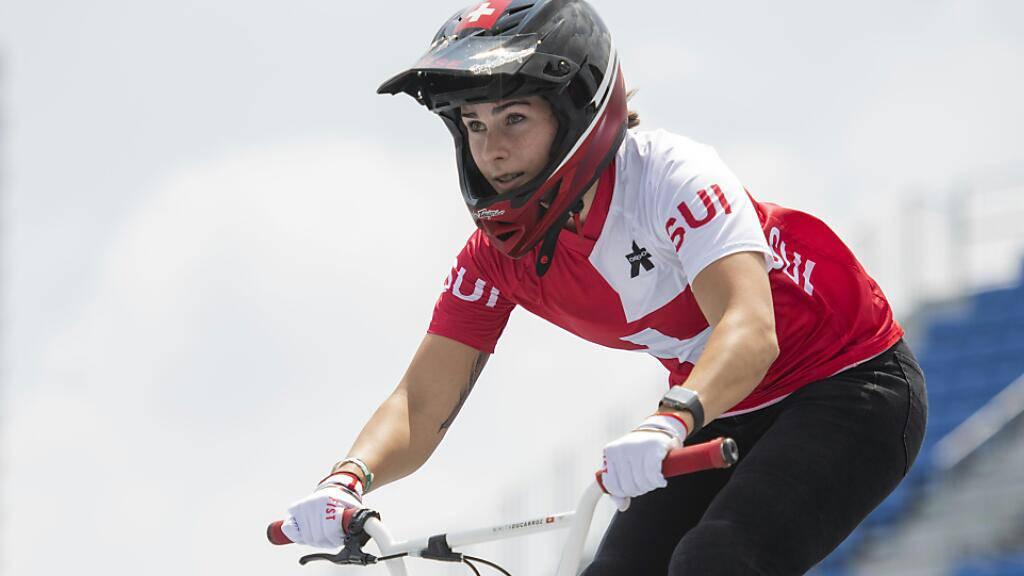 Nikita Ducarroz nimmt im Vorlauf der BMX-Freestylerinnen die Medaillen ins Visier