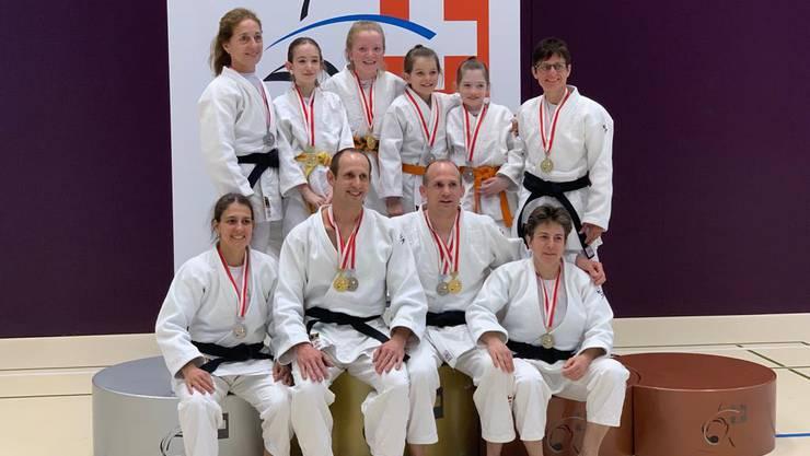 Alle erfolgreichen Basler und Baselbieter Judokas vereint.