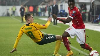 Litauens Fussballer rutschen nicht nur gegen die Schweiz aus