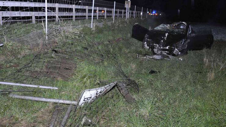 Unfall bei der Ausfahrt Niederbipp.