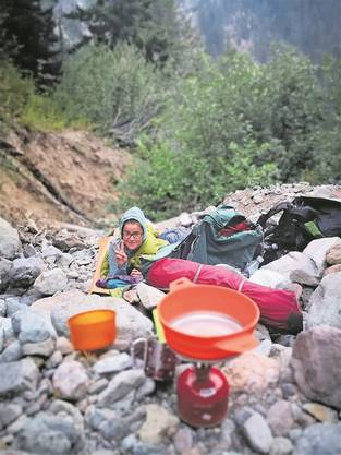 Cowboy-Camping: Sandra Wüthrich schlief oft unter freiem Himmel.