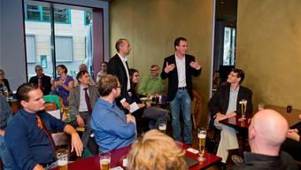 Das sagen die Zuschauer zur ersten Ausgabe von az in der Beiz im Restaurant Einstein in Aarau