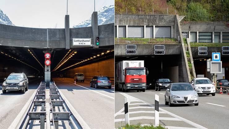 Portal zum Gotthard und Gubrist.
