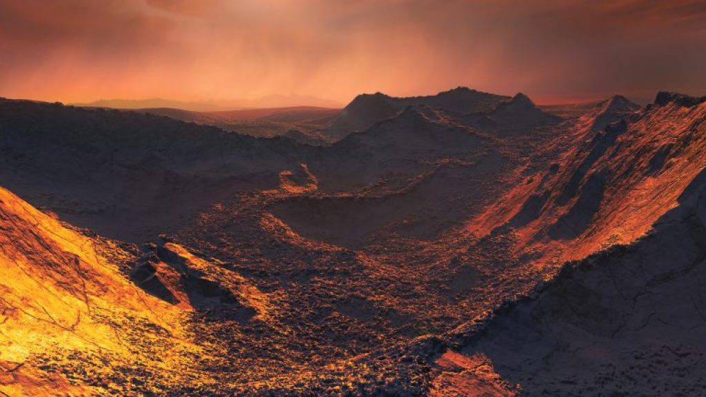 So könnte es auf der neu entdeckten Supererde aussehen: Das Zentralgestirn «Barnard's Star» spendet nur schummriges Licht.