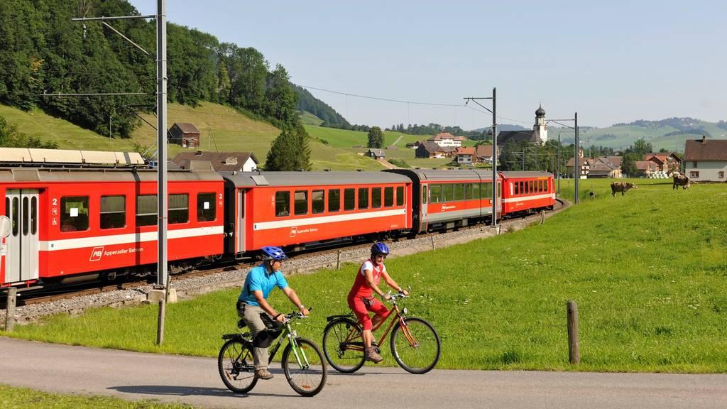 DIe Appenzellerbahn verkehrt heute nicht zwischen Weissbad und