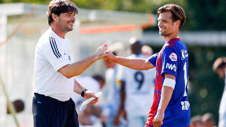 Bringen sie den FCB wieder zurück in die Spur? Trainer Ciriaco Sforza und Captain Valentin Stocker, der beim FCB bleibt.