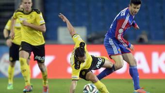 Beim letzten Aufeinandertreffen der beiden Teams im Stade de Suisse gewannen die Berner Young Boys mit 4:2 gegen den FC Basel. (Archiv)