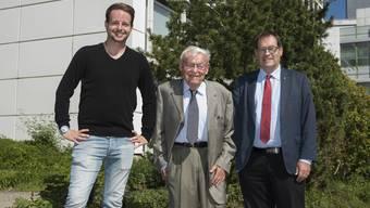 Drei Männer, drei Liberale, drei Juristen, die zusammen Jahrzehnte an Einsatz für das Gemeinwohl vorweisen können: (v.l.) Philipp, Franz und Andreas Eng.