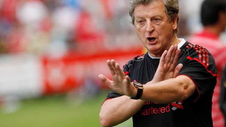 Roy Hodgson als Cheftrainer des FC Liverpool während einem Testspiel in der Herti-Allmend in Zug gegen GC.