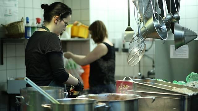 Ein Blick in die KiFF-Küche in der Aarauer Telli.